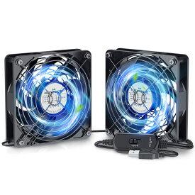 【ポイント10倍 -9/30 23:59】 KEYNICE USBファン 静音 冷却ファン 強力 冷却 パソコン 送風機 扇風機 ミニファン 小型 冷却クーラー ルーター 水槽 PS4冷却 薄型 12cm KN-1725-BK