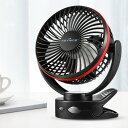 【ポイント10倍 〜 1/23 19:59】KEYNICE usb扇風機 卓上扇風機 クリップ 充電式 usbファン 超強風 静音 風量4段階調節…