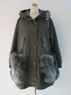 Twill water-repellent down coat [Max Mara] with the MAXMARA WEEKEND fur