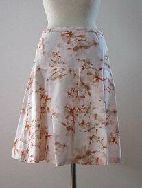 MAXMARA STUDIOフラワープリントヨーク切替えスカート[マックスマーラ]【40(M)size】