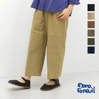 Bottom chino pants easy comfort ちん constant seller Japan is made in Dana F null Dana Faneuil cotton gathers wide underwear D-7316302 19 in the spring and summer