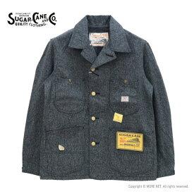 クーポンで500円OFF・ポイント5倍 / シュガーケーン SUGAR CANE 9ozブラックコバートワークコート SC14373 メンズ 日本製 ジャケット