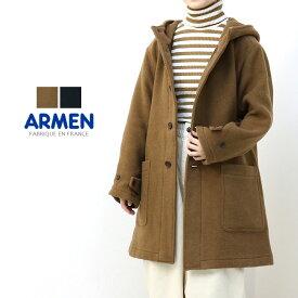 [SALE セール] アーメン ARMEN ダブルフェイスフーデッドコート PNAM1652W 2019秋冬 メルトン アウター 暖かい フード レディース [返品・交換不可] [返品・交換不可]