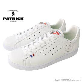 パトリック PATRICK レザースニーカー QUEBEC(ケベック) 119630 メンズ 日本製 靴 ホワイト 2021秋冬