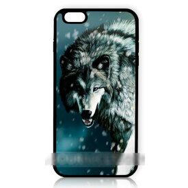 53ab574d47 【送料無料】 スマホケース オオカミ狼ウルフ アートケース 保護フィルム付 iPhone Galaxy iPod
