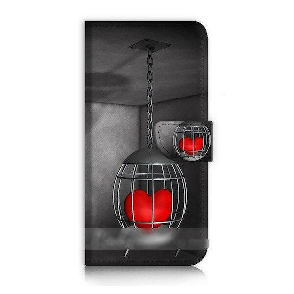 【送料無料】 スマホケース 手帳型 ハート ラブ USBケーブル付 保護フィルム付 iPhone Galaxy iPod iPad Xperia Huawei Nexus LG HTC OPPO スマートフォン カバー カードケース 【受注生産】