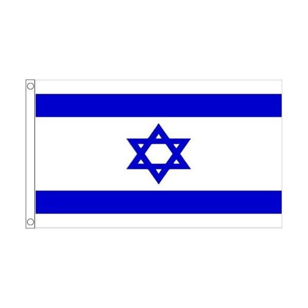 【送料無料】 国旗 イスラエル国 六芒星ダビデの星 150cm × 90cm 特大 フラッグ 【受注生産】