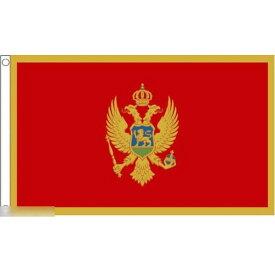 【送料無料】 国旗 モンテネグロ 150cm × 90cm 特大 フラッグ 【受注生産】