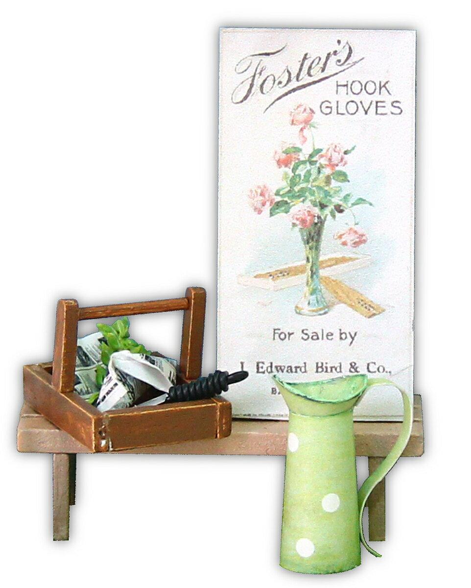 雑貨おもしろ ドールハウスキット ミニチュアキット 工作キット インテリア雑貨 木製 ガーデニング用品(ポスター)