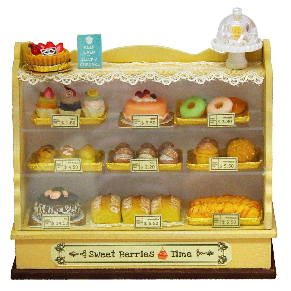 ミニチュアキット ドールハウスキット 工作キット 雑貨おもしろ インテリア雑貨 木製 ケーキショーケース