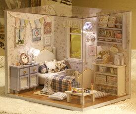 ドールハウスキット ミニチュアキット 工作キット 雑貨おもしろ インテリア雑貨 木製 ワンルームシリーズホワイトルーム