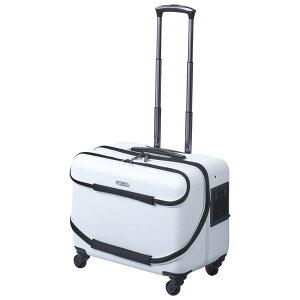 【単品配送】 GEX OSOTOキャリー roller ローラー M ホワイト超小型犬 小型犬 キャスター付き 軽量 キャリーケース キャリーバッグ ハード オソトローラー オソトキャリー 白
