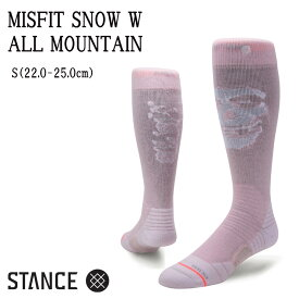 STANCE スタンス SNOW COLLECTION ALL MOUNTAIN MISFIT SNOW W SOCKS ソックス レディース スノーボード【モアスノー】