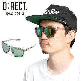 D:RECT ディレクト サングラス DNS-701-3 【CLEAR GRAY】 SMOKE/GREEN POLA 偏光 スポーツ タウンユース【モアスノー】