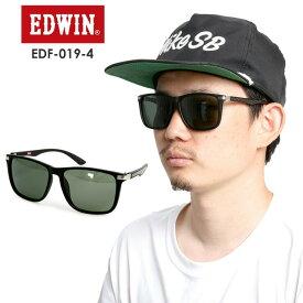EDWIN エドウィン 偏光プラサングラス EDF-019-4 【BLACK】 GREEN POLA 偏光 スポーツ タウンユース【モアスノー】