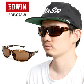 EDWIN エドウィン 偏光プラサングラス EDF-076-8 【DEMI】 BROWN POLA 偏光 スポーツ タウンユース【モアスノー】