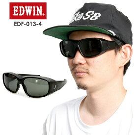 EDWIN エドウィン 偏光カバーグラス EDF-013-4 【BLACK】 GREEN POLA 偏光 スポーツ タウンユース【モアスノー】