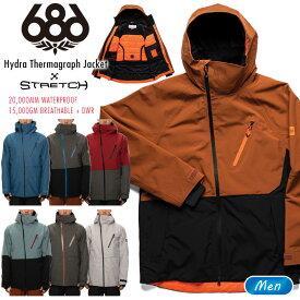 20-21 686 シックスエイトシックス Hydra Thermagraph Jacket ハイドラサーマグラフジャケット スノーボード ウェア スノーウェア スキーウェア 2021【モアスノー】