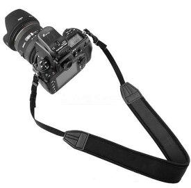「楽天1位」カメラストラップ 一眼レフ ミラーレス一眼 シンプル 黒 ネックストラップ クッション生地 幅広 滑り止めラバー付 【 Canon Nikon OLYMPUS PENTAX SONY 対応 】 EOS Kiss X7 X7i X8i X9 X9i D3400 D3500 D5500 D5600 GF9 K-70 OM-D E-M10
