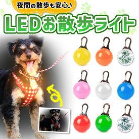 お散歩ライト 犬 夜 LED 散歩 ひかる 光る ペット 安全 LED 事故防止 首輪 リード おさんぽ キーホルダー 点灯 点滅 ランニング ウォーキング