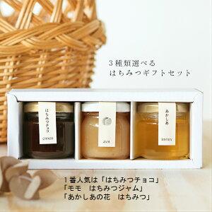 はちみつギフトボックス 全11種類から3つ選べる 蜂蜜 はちみつジャム はちみつチョコ お中元 お祝い 送料無料