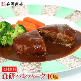 食研ハンバーグ 1袋 10個入 ( 温めるだけ ハンバーグ 日本食研 惣菜 弁当 ) 冷凍便 送料無料 お取り寄せグルメ 食品 備蓄 ギフト お中元