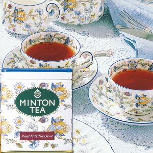 ミントンティー ロイヤルミルクティーブレンド 80g缶入り [伝統を受け継いだ本格的な英国紅茶 MINTON TEA] |ミントン 森半 紅茶 茶 お茶 ティー 茶葉 プレゼント ギフト 水出し 水だし 水出し