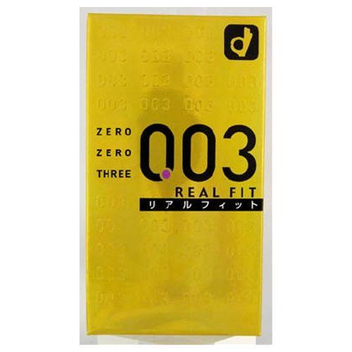【送料無料】【激安6箱セット販売】003ゼロゼロスリーリアルフィット(10個入)【コンドーム】