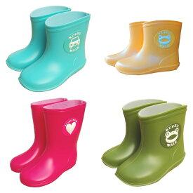 子ども用 長靴(ながぐつ) 男の子・女の子 キッズ レインブーツ 13cm〜18cm ハート(ピンク)・くるま(水色)・カエル(グリーン・イエロー)