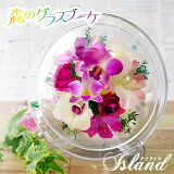 ボトルフラワーアイランドお誕生日ギフトにプリザーブドフラワーを超える洋ランの永久生花!