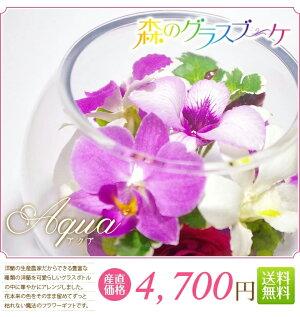 花のグラデーションが自然で素敵☆ボトルフラワーアクア