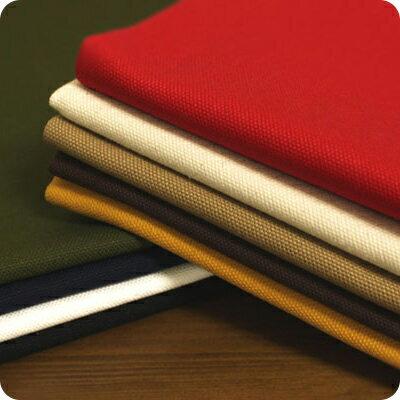 生地の森 8号帆布レギュラー染めソフト仕上げ50cm単位綿 無地 厚手