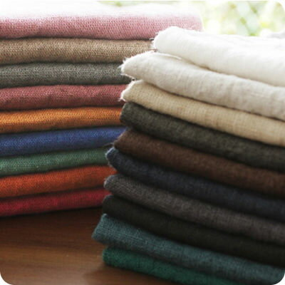 【リネン 生地 無地 20色】洗いこまれたアンティーク風ラミーリネン パンツやスカートやコートからバッグや小物など幅広い用途におすすめ