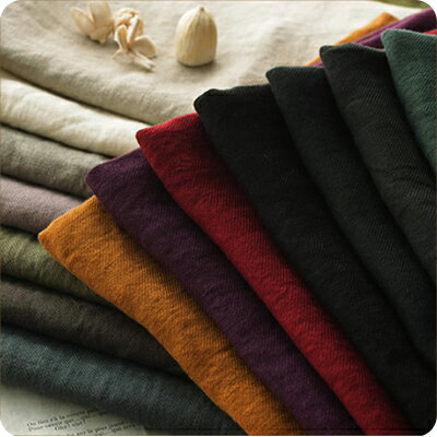 生地の森 洗いこまれた綾織りベルギーリネンナチュラル染め50cm単位