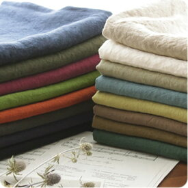 【リネン 生地 無地 17色】生地の森 カラーベルギーリネン1/25番手ナチュラルダイドスカートやパンツ、コートやジャケットに