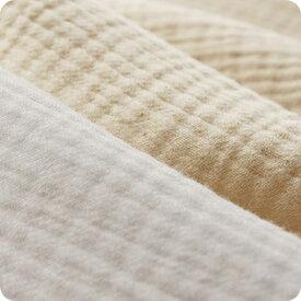 生地の森 オリジナル6重織ガーゼ50cm単位布 綿 無地 厚手 赤ちゃん