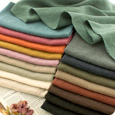 生地の森 洗いこまれた綾織リネンウール50cm単位布 無地 厚手 おしゃれ