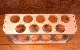 無垢材使用バットスタンド玄関先に最適なコンパクト設計9本掛け