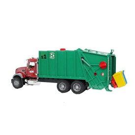 車のおもちゃ はたらく車 清掃車 パッカー車 bruder ブルーダー MACK ごみ収集車 02812