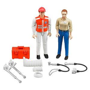 車のおもちゃ はたらく車 フィギュア BRUDER ブルーダー 救急セット(フィギュア付き)62710