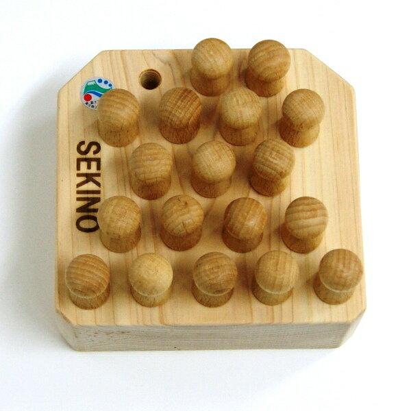 SEKINO 木製パズル 森の魔法陣 トリプルA(中)ヒノキ台座 コマ18個