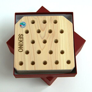 SEKINO木製パズル森の魔法陣トリプルA(中)ヒノキ台座コマ18個