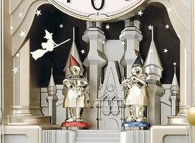 オルゴールからくり時計(電波掛時計)リズム時計(日本製)4MN463-023[送料無料]