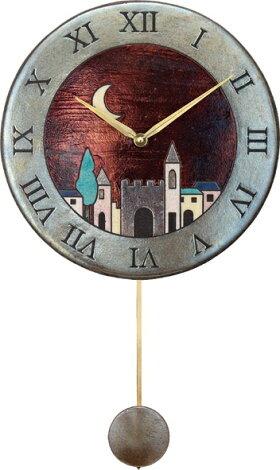 ザッカレラ振り子掛時計(クオーツ)(陶器:イタリア製)ZC152-001[送料無料]