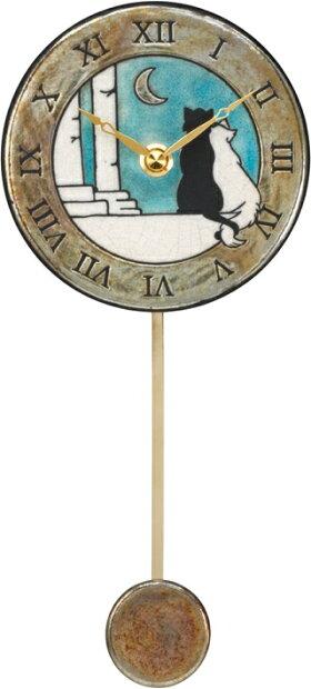 ザッカレラ振り子掛時計(クオーツ)(陶器:イタリア製)ZC176-A04[送料無料]