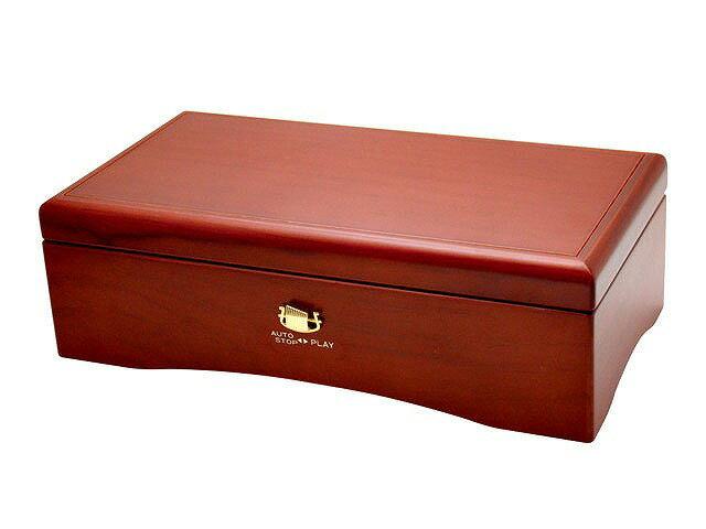 72弁オルフェウス クルピシャ材 ワインレッド サンキョー(日本製)EX-384+オルゴール共鳴箱セット