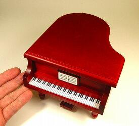 ピアノ型オルゴール 18弁オルゴール内臓 ワインレッド (日本製:東洋音響)YK-GP-3