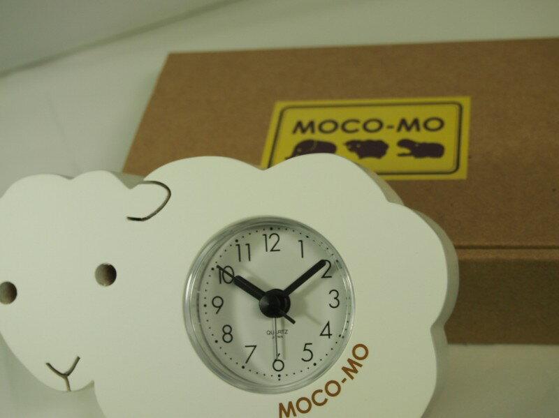 モコモ目覚まし時計  ヒツジくん (ホワイト) クオーツ(日本製) MM001-CW