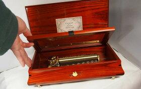72弁オルゴールホワイトアッシュ材ボックス(ピアノ塗装仕上げ)(フジゲン製:日本)FSO-750[送料無料]