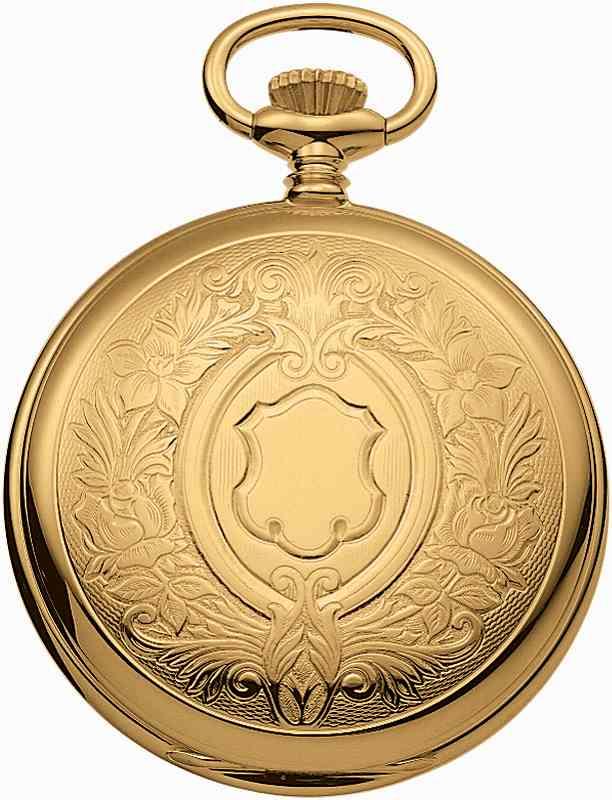 アエロ懐中時計(手巻き) 金時計 (18金メッキ) スイス製 55629-J501 [送料無料]